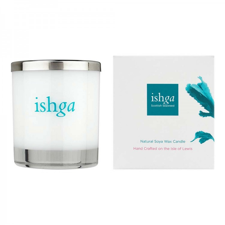 Ishga Hebridean Dreams Hand Poured Seaweed Candle 30cl: Burns for 40hrs Bodycare