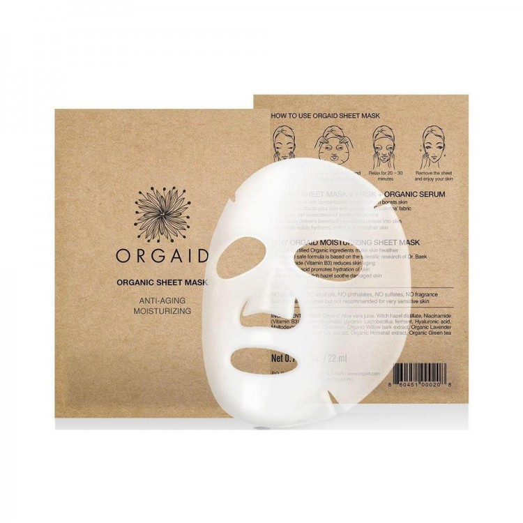 Orgaid Anti Ageing and Moisturising Organic Sheet Mask Organic
