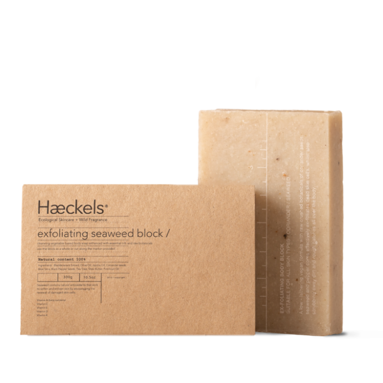 Haeckels Large Exfoliating & Hydrating Seaweed Vegan Soap Bar 80g Bodycare