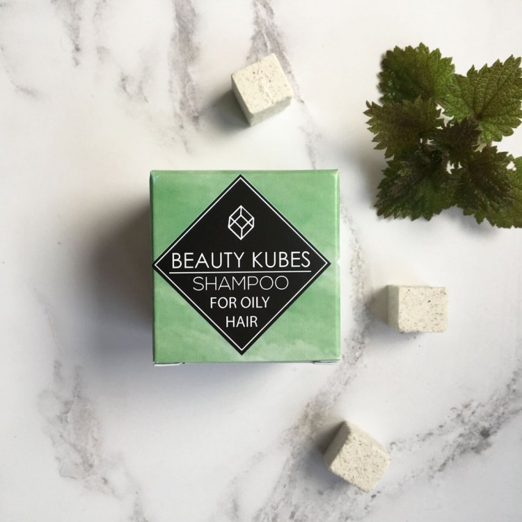 Beauty Kubes Plastic Free Shampoo for Oily Hair: 27 Organic Kubes Bodycare