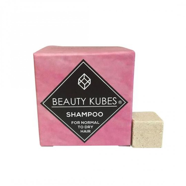 Beauty Kubes Plastic Free Shampoo for Normal to Dry Hair: 27 Organic Kubes Bodycare
