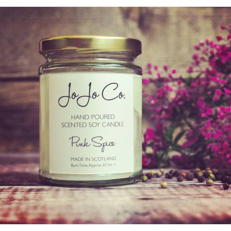 JoJo Co Candles Pink Spice 45hrs Fragrance