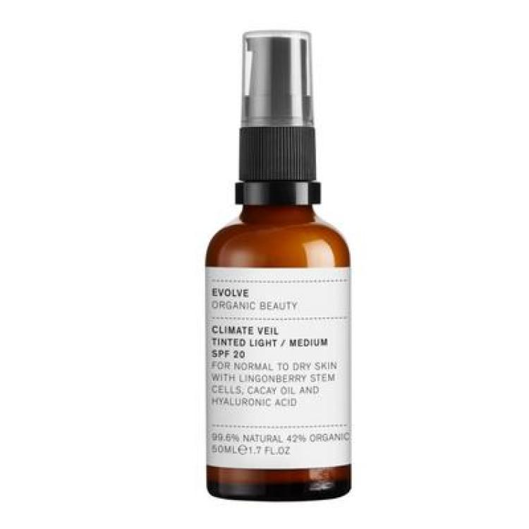 Evolve Organic Beauty Climate Veil Tinted SPF 20 Light/Medium 50ml Skincare