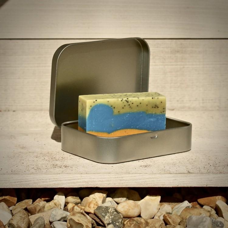 Non Plastic Beach Soap Travel Tin Bodycare