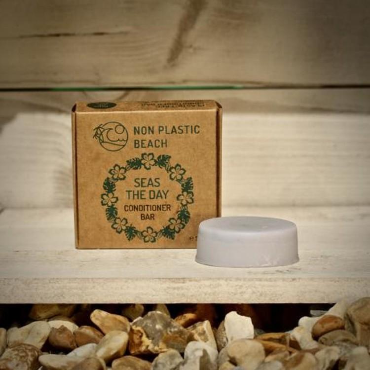 Non Plastic Beach - Plastic Free Conditioner Bar Seas The Day - 50g Bodycare