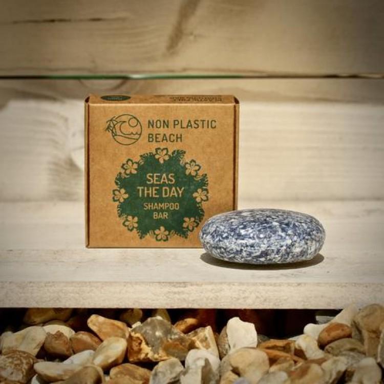 Non Plastic Beach - Plastic Free Shampoo Bar Seas The Day- 70g Bodycare
