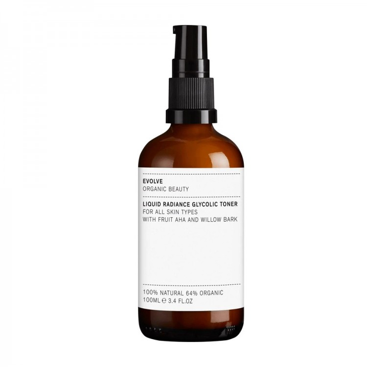 Evolve Organic Beauty Liquid Radiance Glycolic Toner 100ml Plastic Free