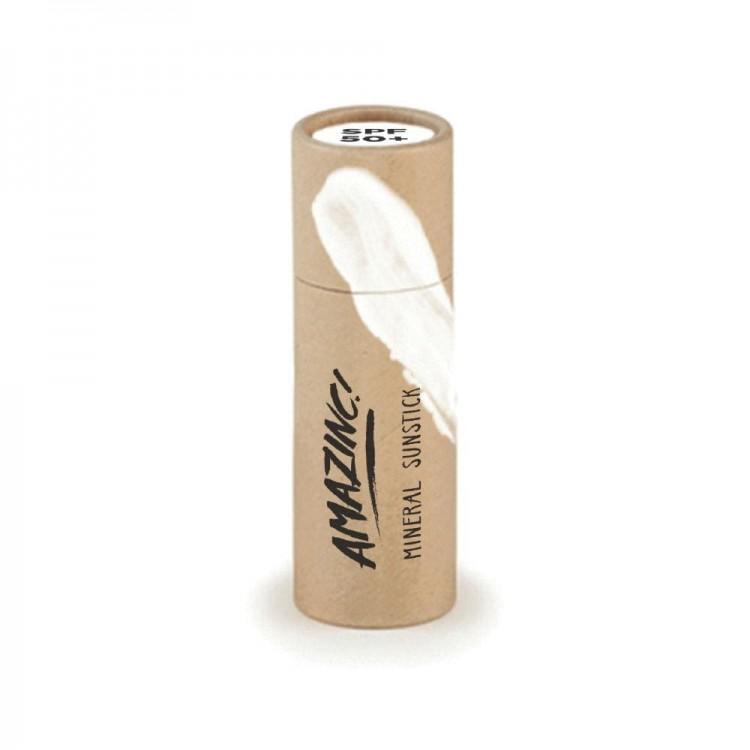 Amazinc Mineral Beige Sun Stick SPF 50+ 30g Plastic Free