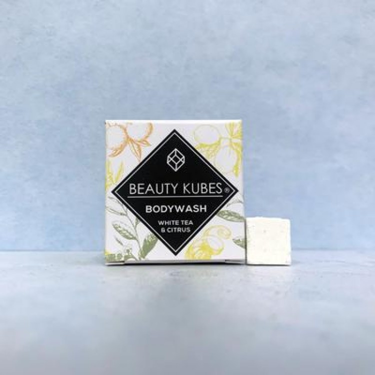 Beauty Kubes Plastic Free White Tea & Citrus Body Wash Allergen Free: 27 Organic Kubes Bodycare