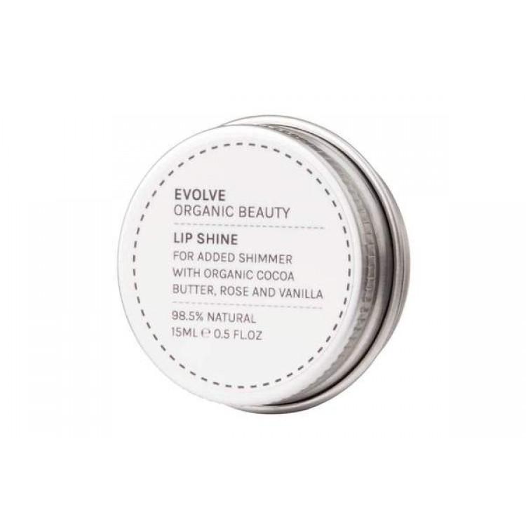 Evolve Organic Beauty Lip Shine True Gold 15ml Bodycare