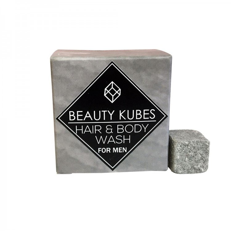 Beauty Kubes Plastic Free Hair & Body Wash for Men: 27 Organic Kubes Bodycare