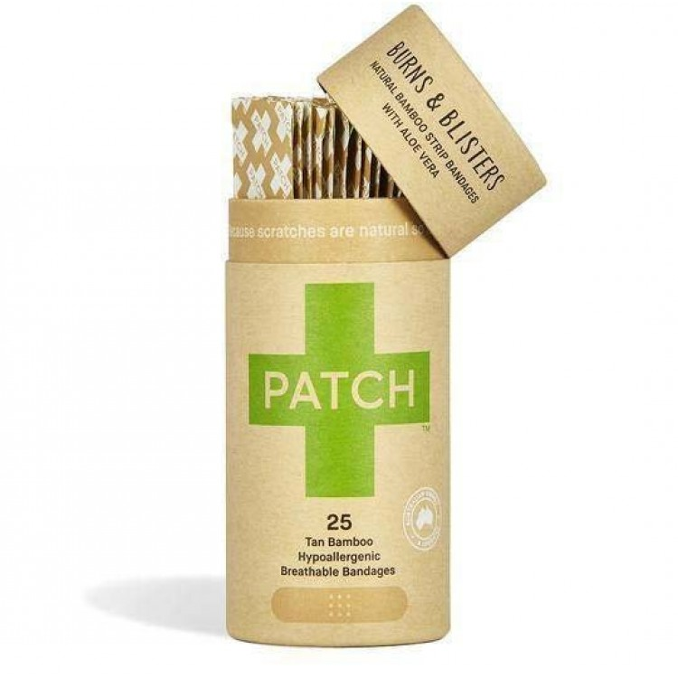 Patch Biodegradable Bamboo Plasters with Aloe Vera - 25 Adhesive Strips
