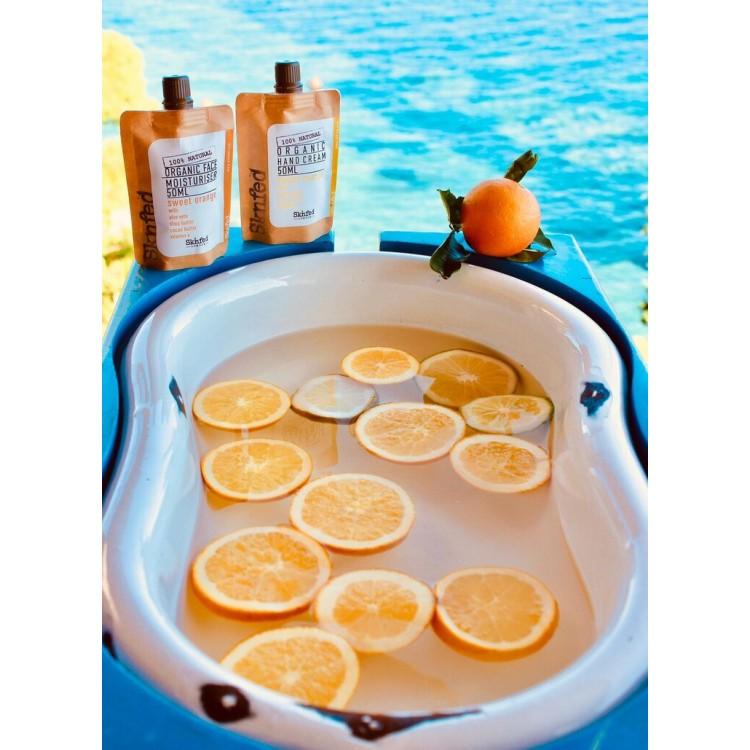 Sknfed Organic Hand Cream Sweet Orange 50ml Plastic Free