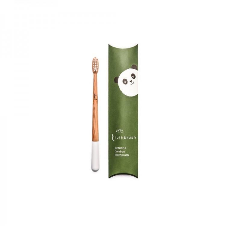 Truthbrush Year Supply of Kids Bamboo Toothbrush (White)